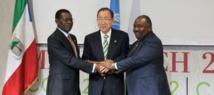 Ile Mbanié : Signature d'un accord entre les deux parties gabonaise et équato-guinéenne sous l'œil de Ban Ki-moon à Marrakech.