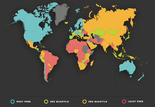 Le classement 2016 des pays africains en matière de liberté économique, selon l'institut Fraser