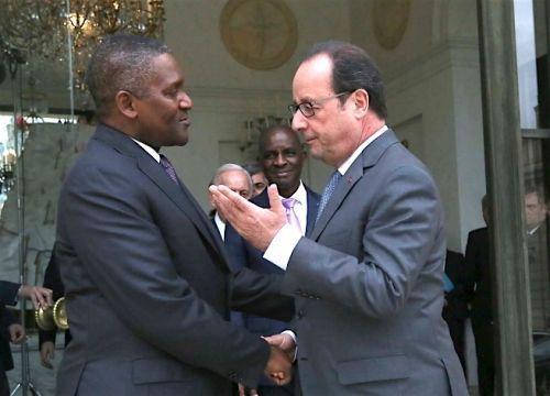 François Hollande reçoit Aliko Dangote et une dizaine d'autres patrons africains