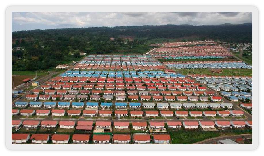 Guinée Equatoriale logement : Teodoro Nguema Obiang Mangue lance une vaste campagne de reconstruction des  maisons et des toitures dans les zones reculées !!!