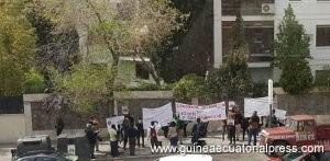 CORED : La ridicule manifestation devant l'Ambassade de Guinée-Equatoriale en Espagne