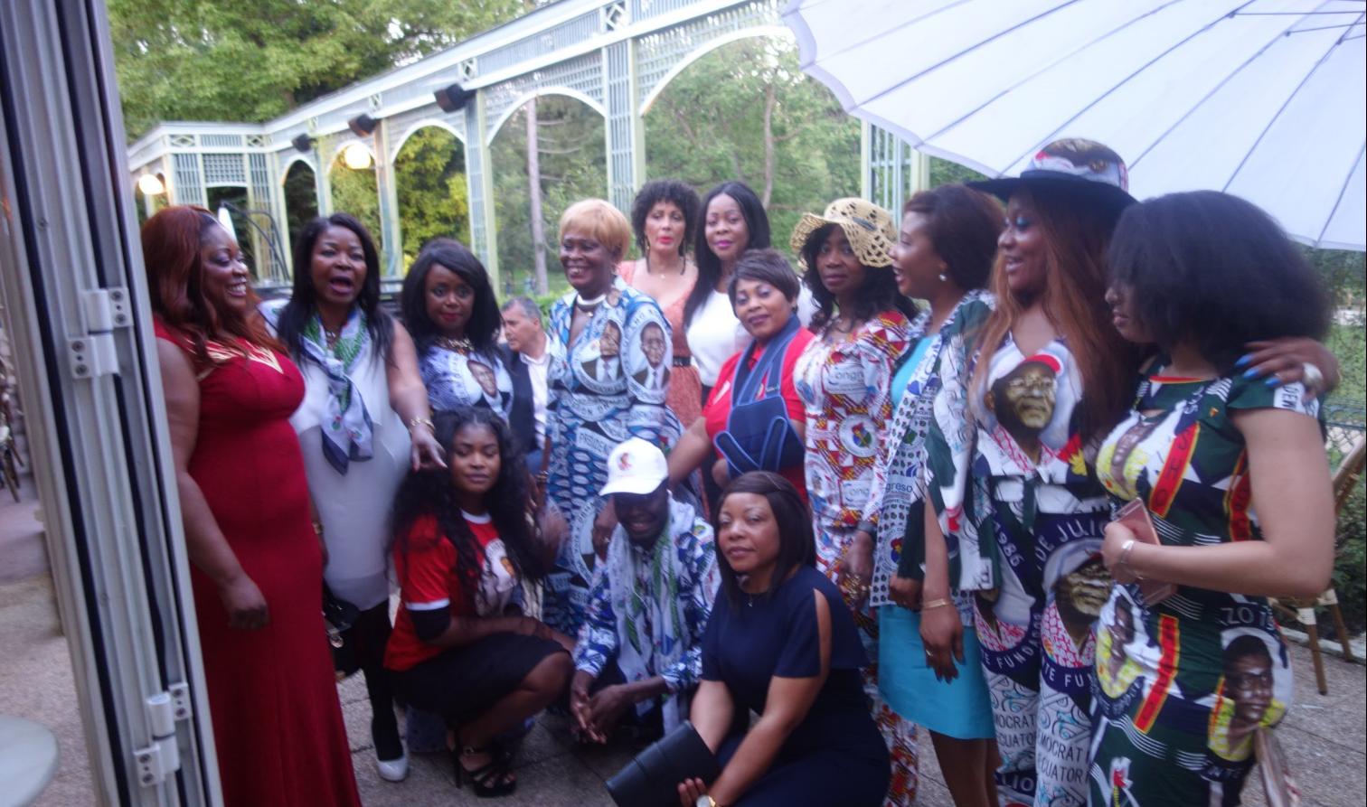 France : célébration en différée non seulement  de la réélection de son excellence  Obiang Nguema Mbasogo  , mais aussi  la célébration toujours en différée de son anniversaire !!! Toute la communauté Equato-Guineenne était au  rendez-vous !!!