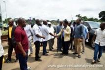 Opération de Salubrité  à  Malabo :  Le premier Ministre chef du gouvernement  ,  sur le terrain pour s'enquérir du déroulement et sensibiliser les populations !!!