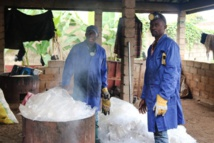 Au Cameroun, on fabrique des pavés « écolos » à partir de déchets plastiques