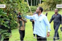 """Guinée Équatoriale diversification de l 'économie  :"""" l'agriculture , l'élevage , la pisciculture et la pêche sont des secteurs clés pour booster l'économie """" . dixit son excellence Obiang Nguema Mbasogo"""
