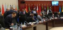 Entrevue en marge du  27e sommet Afrique - France entre le Président Obiang Nguema Mbassogo et le Président Hollande