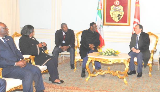 Guinée Equatoriale-Tunisie : Le Président Teodoro Obiang Nguema Mbasogo  en visite officielle de trois jours en Tunisie