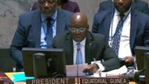 Guinée Equatoriale : Le ministre en charge des affaires étrangères,assure avec brio le relais au conseil de sécurité de l'ONU,après le départ du Chef de l'Etat