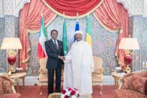 Teodoro Obiang Nguema Mbasogo et Ali Bongo, le 12 juillet 2019, à Libreville. © Communication présidentielle