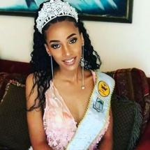 Djanet Ortiz Oyono,représentante de la Guinée équatoriale au concours de Miss monde 2019 à Londres