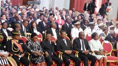 Gabon: le président Bongo investi pour un nouveau mandat de sept ans