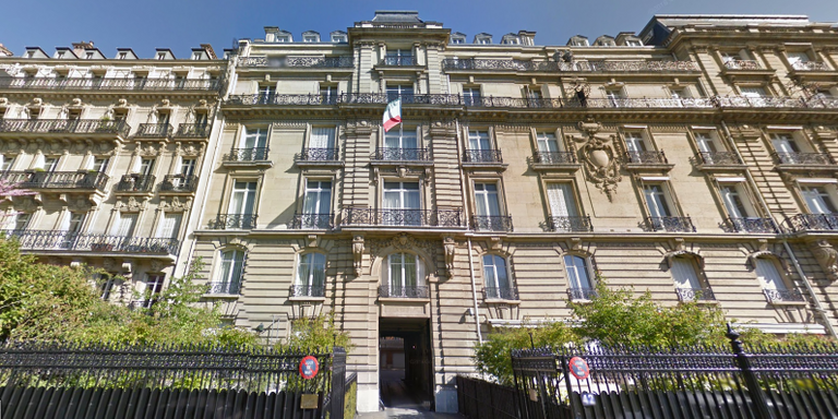 immeuble abritant l'ambassade de Guinée Equatoriale en France