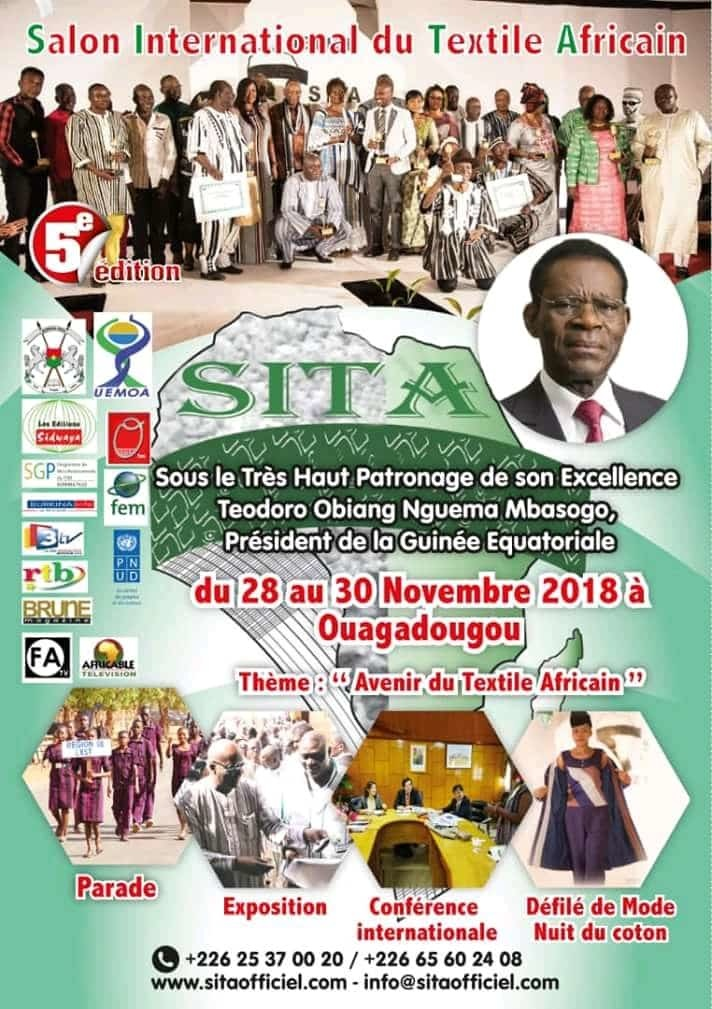 Guinée Equatoriale : Le Président Obiang Nguema Mbasogo,parrain du Salon international du textile Africain à Ouagadougou