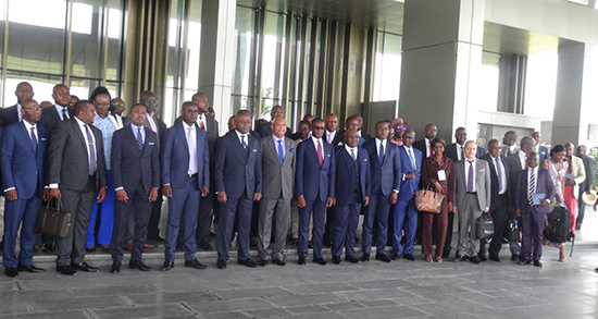 Image des ministres des télécoms de la CEEAC.