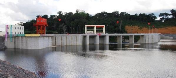 barrage hydro-électrique de Djibloho en Guinée Equatoriale
