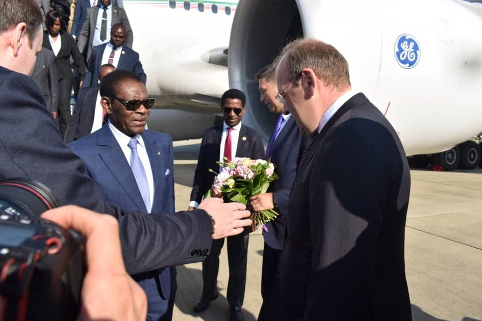 Le Président Obiang Nguema Mbasogo au Sommet Russie-Afrique (2019)
