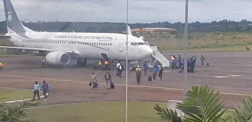 CEIBA à son arrivée à Franceville dans le sud du Gabon