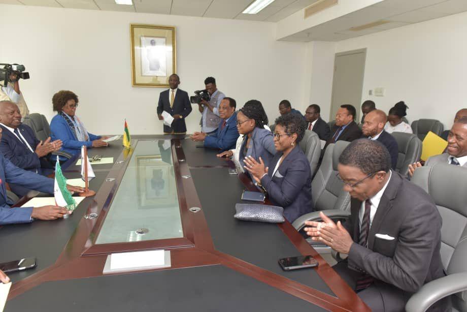Cérémonie de passation de charge de la présidence du Conseil des Ministres de l'OHADA entre la Guinée Equatoriale et la Guinée Bissau