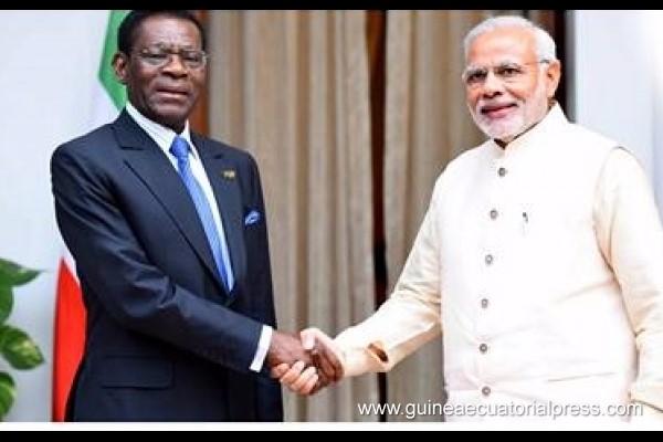 Guinée Equatoriale : Le Président Obiang Nguema Mbasogo à New Dehli