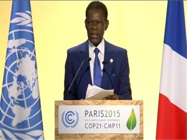 Cop21 : Le Président Obiang Nguema Mbasogo leur en bouche un coin