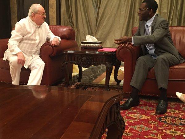 « Je suis venu avec une délégation pour assister à l'investiture du président Obiang que nous avons en considération »