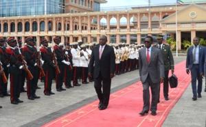 Le Président Obiang Nguema Mbasogo reçoit son homologue Sud-africain  Ciryl Ramaphosa au palais du peuple de Malabo