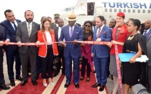 Guinée Equatoriale : Le premier vol de Turkish Airlines atterrit à l'aéroport de Malabo