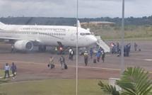 Les Panthères du Gabon dans un avion de la Guinée Équatoriale