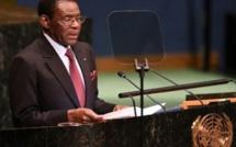 Le président de la Guinée équatoriale S.E. Obiang Nguema Mbasogo demande à l'ONU de lever le blocus économique contre Cuba.