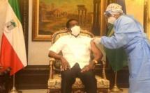 """Guinée Equatoriale -covid-19: le Président Obiang Nguema se vaccine grâce """"au meilleur ami de l'Afrique"""", dit-il."""