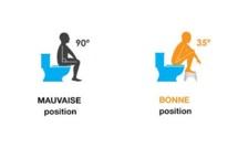 Quelle posture adopter aux toilettes?